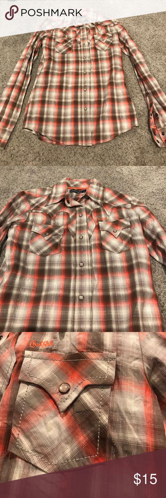 Cruel Girl cowgirl long sleeve shirt Cruel Girl cowgirl long sleeve shirt; size S Cruel Girl Tops Tees - Long Sleeve