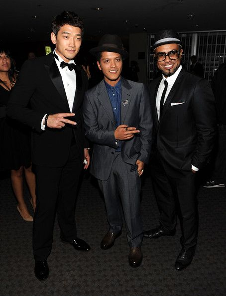 Singer/songwriters Rain, Bruno Mars and Philip Lawrence attend the TIME 100 Gala, TIME'S 100 Most Influential People In The World at Frederick P. Rose Hall, Jazz at Lincoln Center on April 26, 2011 in New York City.
