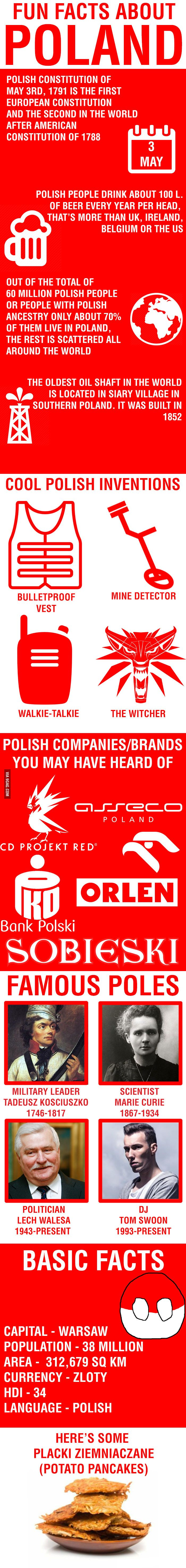 Fun facts about Poland (potato included) - 9GAG