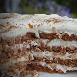 Carrot Cake. Very good. received rave reviews from the gathering I took it too. Will be making it again for sure.  Note: I did part white and part brown sugars par other reviews suggestions.