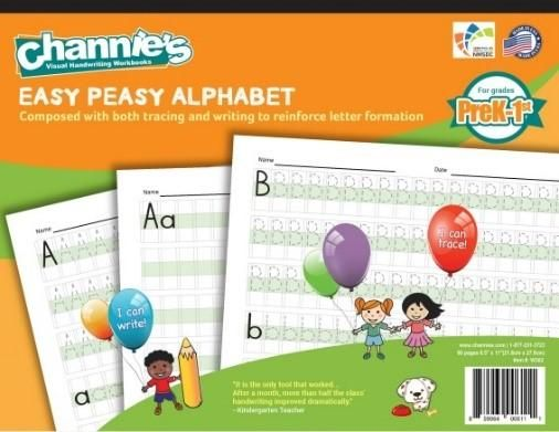 Channie's EASY PEASY ALPHABET HANDWRITING WORKBOOK