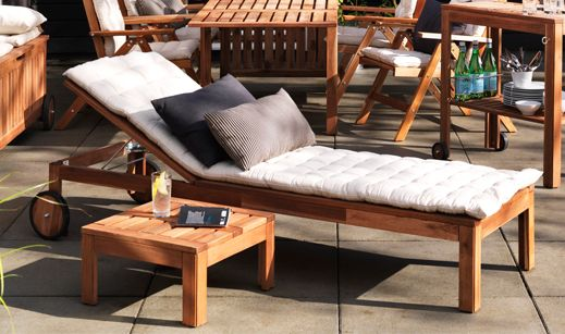 Ikea Lounging Amp Relaxing Furniture Applaro Chaise 129 House Outdoor Pinterest