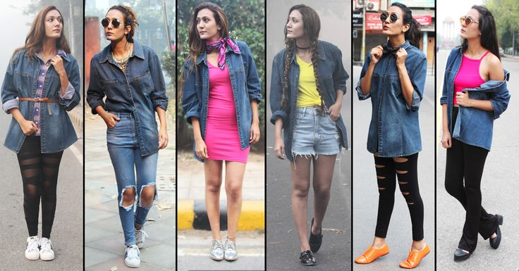 1 Denim Shirt - 6 Different Styles #denim #love