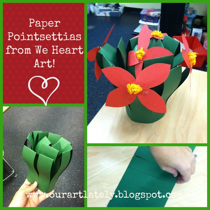 we heart art: super cute paper pointsettias