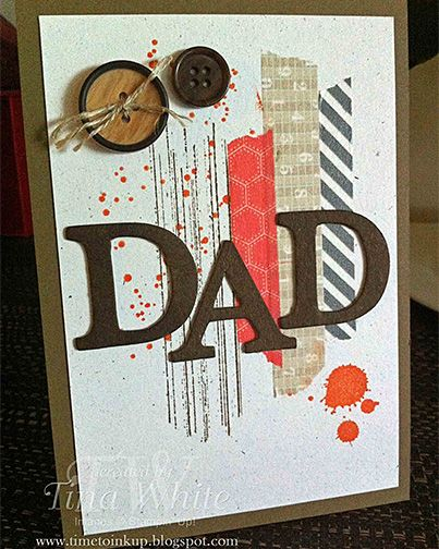 Great use of Washi Tape and lettering. Awesome father's day card!