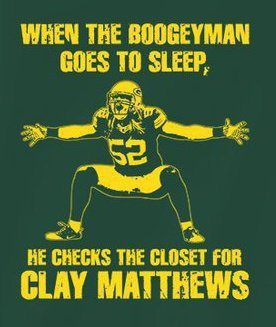 And under his bed for James Harrison....... The bogey men cometh