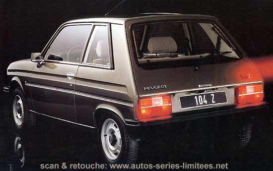 Peugeot 104 StyleZ    ⇆ 150 nl https://de.pinterest.com/Roro60/citroen-ln-peugeot-104-z/