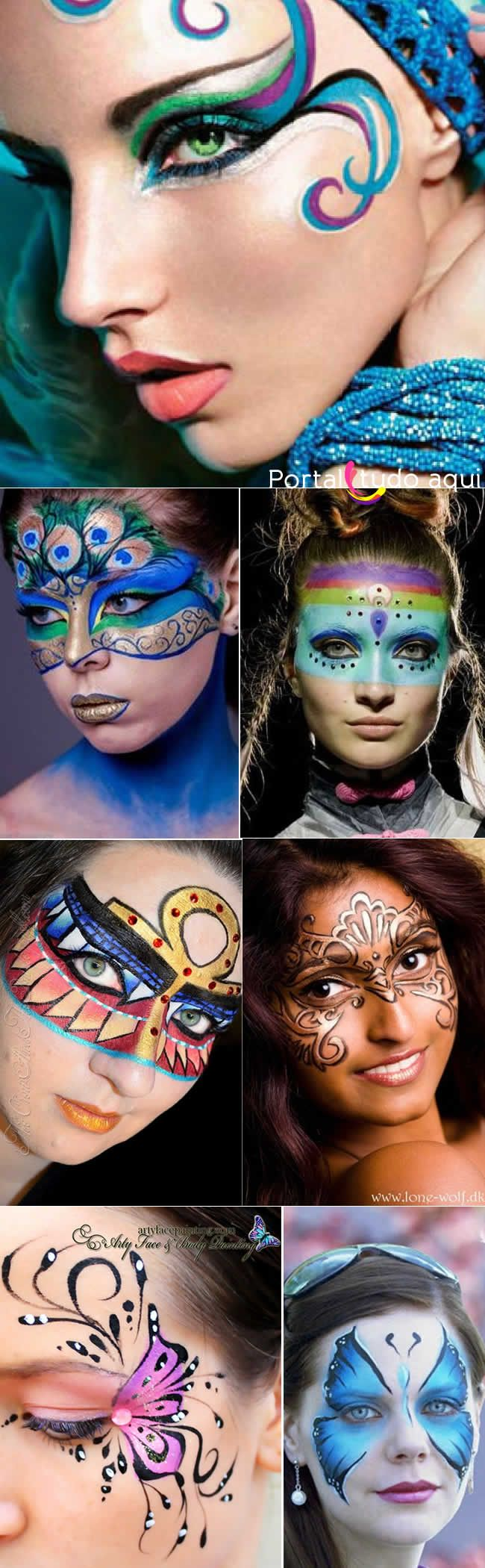 Veja dicas e fotos de maquiagem para o carnaval com brilho, strass e glitter