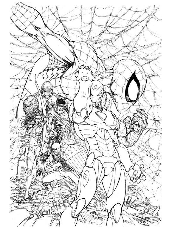 Michael Turner - Civil War #2 Cover Comic Art