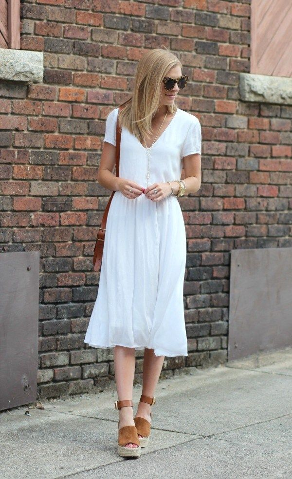 How To Style a White Midi Dress- Life With Emily