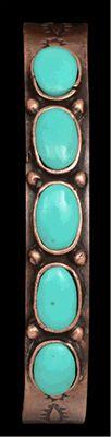 LoulaBelle Copper Turquoise Cuff Bracelet
