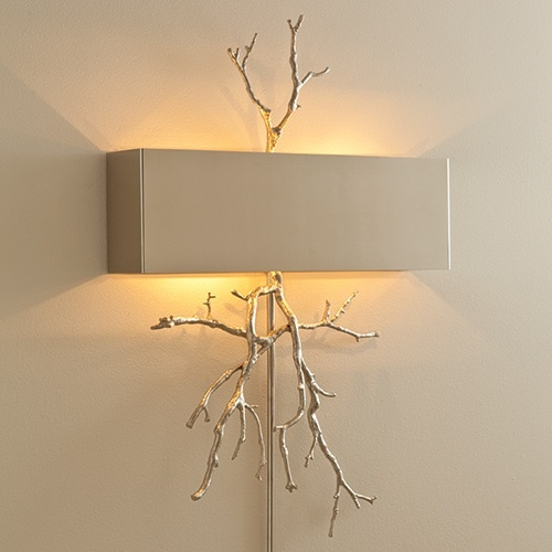Twig Electrified Wall Sconce, in Nickel, sharing beautiful designer home decor inspirations: luxury living room, dinning room & bedroom furniture, chandeliers, table lamps, mirrors, wall art, decorative tabletop & bathroom accents & gifts courtesy of instyle-decor.com Beverly Hills enjoy & happy pinning