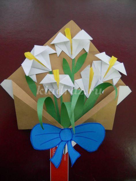 Букет цветов из бумаги к 8 марта своими руками. Мастер-класс с пошаговыми фото