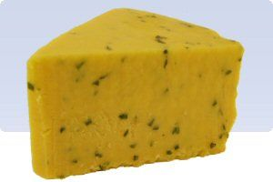 Cotswold -   Cotswold is a Double Gloucester with chopped onions and chives blended into the cheese. Cotswold is a region in Southwestern England. The Cotswold cheese is also just called 'Double Gloucester with Chives' or 'Pub Cheese'.     It is a smooth, cheddar-like cheese with chives and onions. In the pub it is usually served with toast or rustic bread.