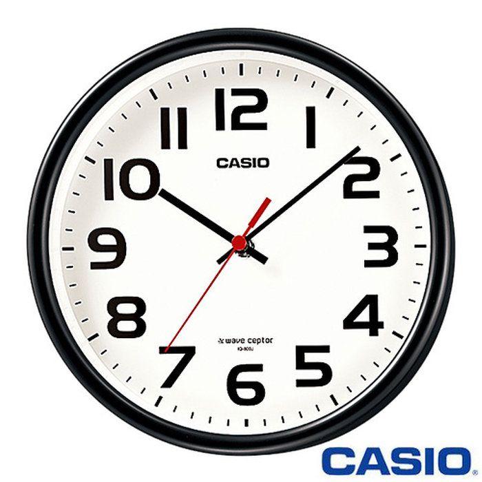 カシオウェーブセプター壁掛け電波時計800J(ブラック)◆2013年−2014年モデル