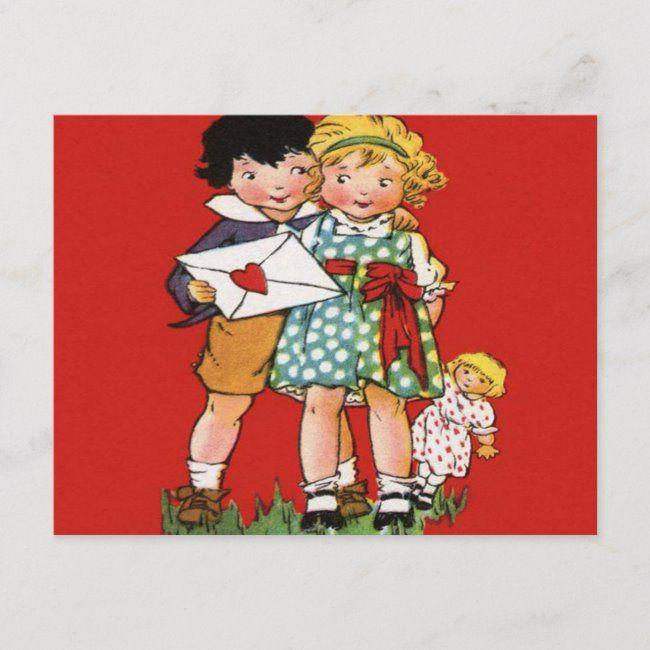 Valentine S Day Vintage Postcard Zazzle Com Valentine Postcards Vintage Valentines Valentines Day Decorations