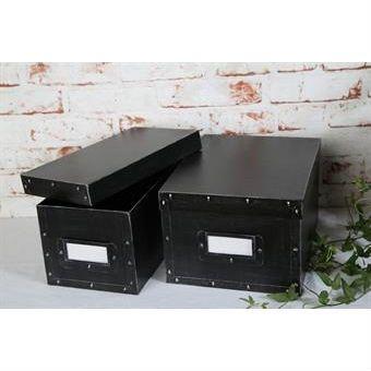 Förvaringsbox plåt svart
