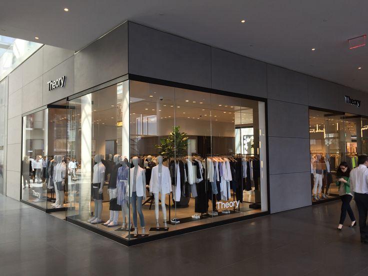 NYC Theory brand store. High-end retail façade applying EQUITONE façade panels. www.equitone.com