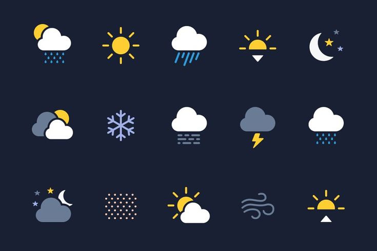 Weather Icons Svg Weather Icons Graphic Design Blog Icon Design