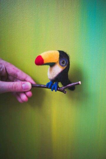 Toucan. Felt toy