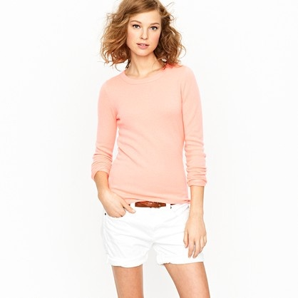 Cashmere long-sleeve tee