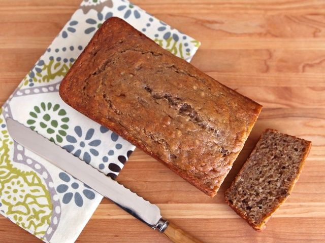 Banana bread (made with greek yogurt) - this recipe is low cal/low fat and is really yummy...I will definitely make again!