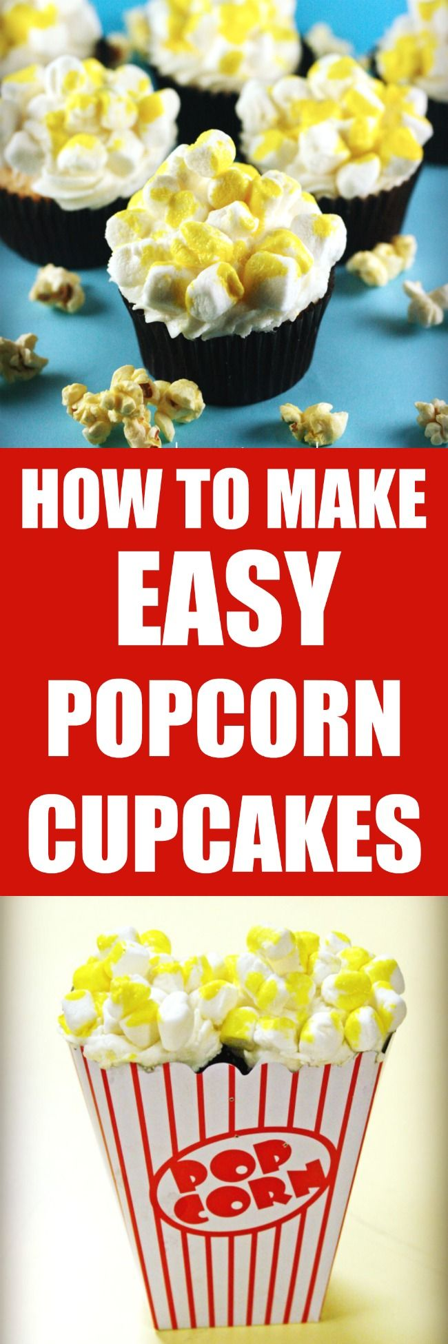 HOW TO MAKE EASY POPCORN CUPCAKES BY ROSEBAKES