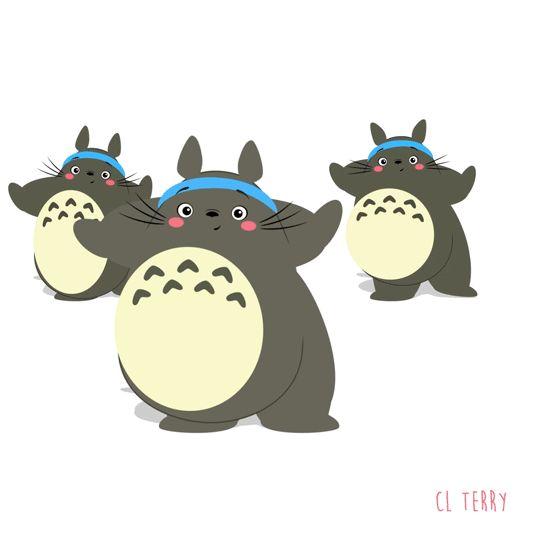 La animadora australiana CL Terry, ha creado una serie de adorables gifs ilustrados que de Totoro, en una faceta que pocos conocíamos: haciendo todo tipo de ejercicios.