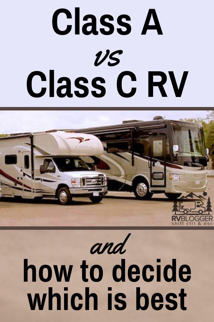 Class a vs class c motorhome and how to choose class c