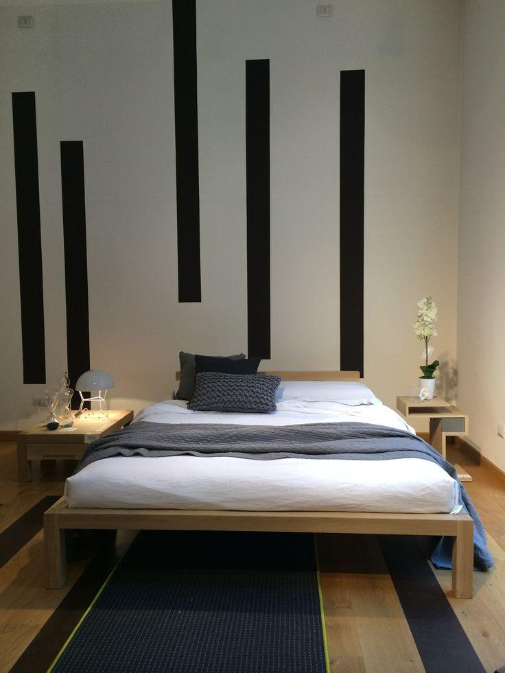 Letto Geadue matrimoniale  #letto #rovere #dormiresano #SpazioRivaViva #Milano #roma #arredamento #ecologico #sostenibile #legno #legnomassello #prodottieco #restyling #tappeto #comodino #ecoshop