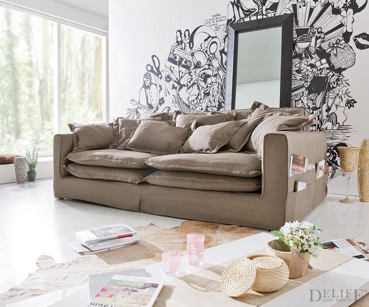 hussensofa naima einfach zu praktisch die seitentaschen f r dich auf. Black Bedroom Furniture Sets. Home Design Ideas
