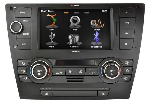 #Zenec Z-E3215 - Pasklare #2-DIN #navigatie voor #BMW 3 serie vanaf 2005. Uiterst fijne bediening via touchscreen WVGA display. Parrot bluetooth carkit functie en film kijken in de auto vanaf USB of iPhone. Met de 3x USB ingang kunt u al uw muziek beluisteren met geweldige kwaliteit. Zelfs Bluetooth Audio streaming is mogelijk. Al uw originele functies blijven zoals stuurbediening, Parkeersensoren en climatronic display. Voor BMW E90, E91, E92.