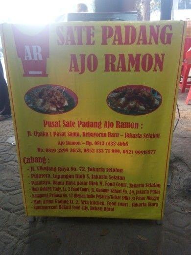 """Sate Padang """"Ajo Ramon"""" Santa Kebayoran Baru Jakarta."""