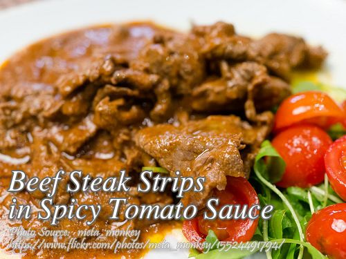 How To Cook Beef Steak Strips In Spicy Tomato Sauce
