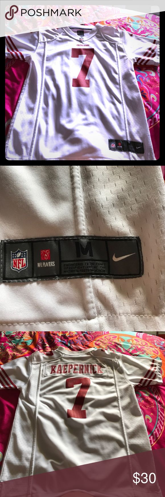 NFL 49ers Jersey Great condition. Nike kids Medium but fits women's nicely. Nike Tops