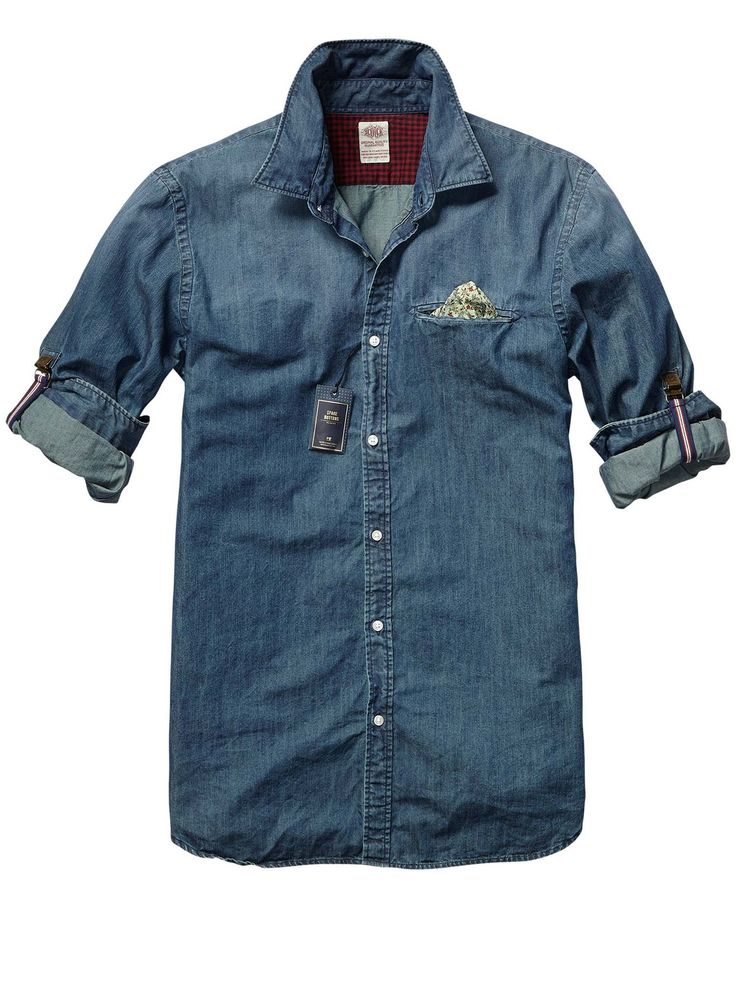 Crispy Poplin Shirt With Fixed Pochet  Mens Clothing  Shirts at Scotch  Soda