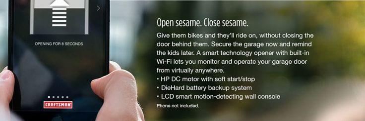 Craftsman 1-1/4 HP Smart Garage Door Opener