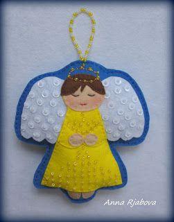 Модные куклы: Рождественский Ангел! + процесс работы...