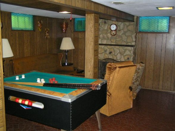 70s basement outdated basement with wood paneling 70s Wood paneling transformation