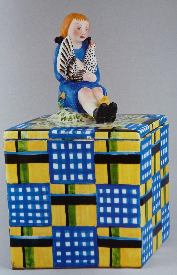 The ceramic box by Mario Sturani 1930-1931, Lenci, Turin, Italy.