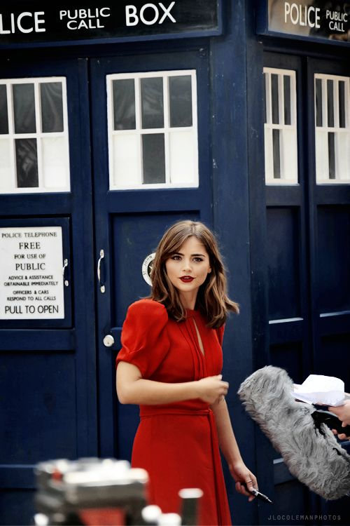 nothing's more beautiful than a girl in front of the TARDIS