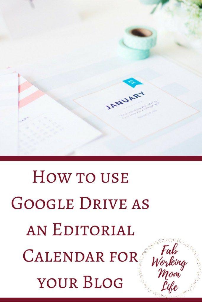 How to use Google Drive as an Editorial Calendar