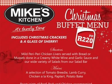 Mike's Kitchen Milnerton & N1 City - Christmas Menu