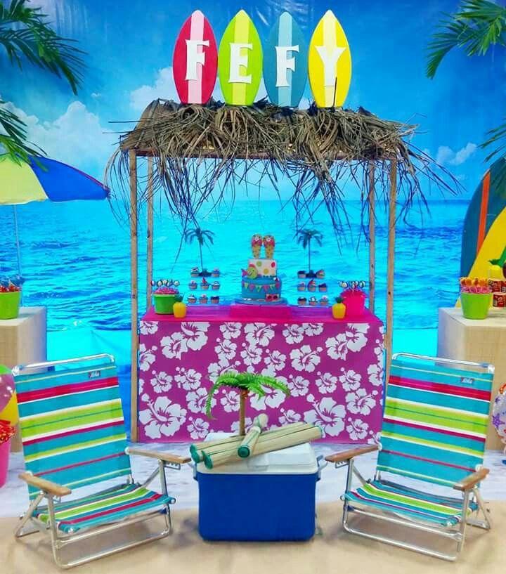 Beach decorations for bathroom - Pin By Fernanda Dias On Festa Praia Marinheiro Pirata Havaiano