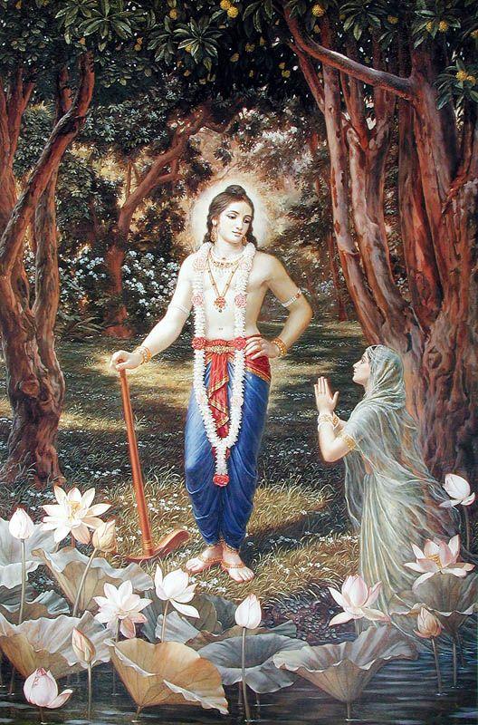 Hindu Art: Balarama and Yamuna