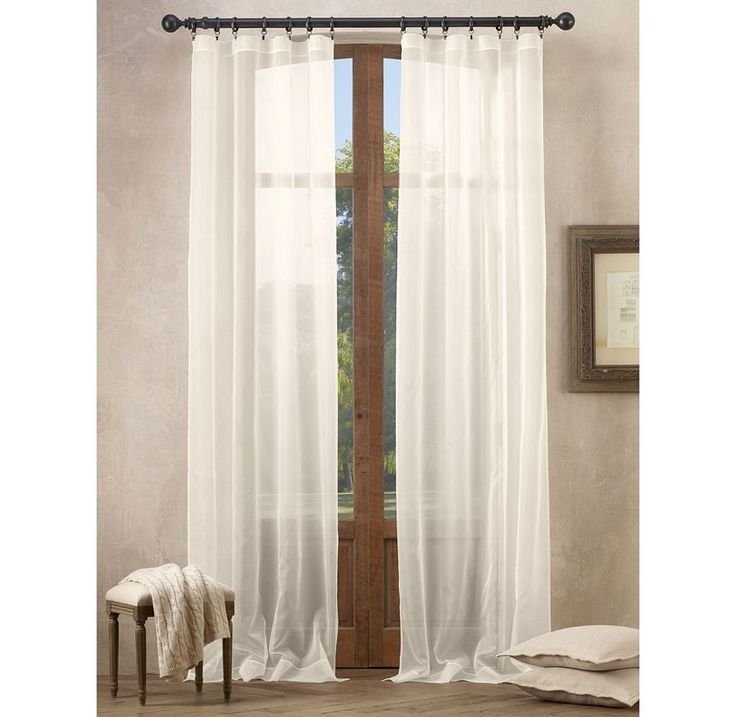 33 best window treatments images on pinterest blinds for Restoration hardware silk curtains