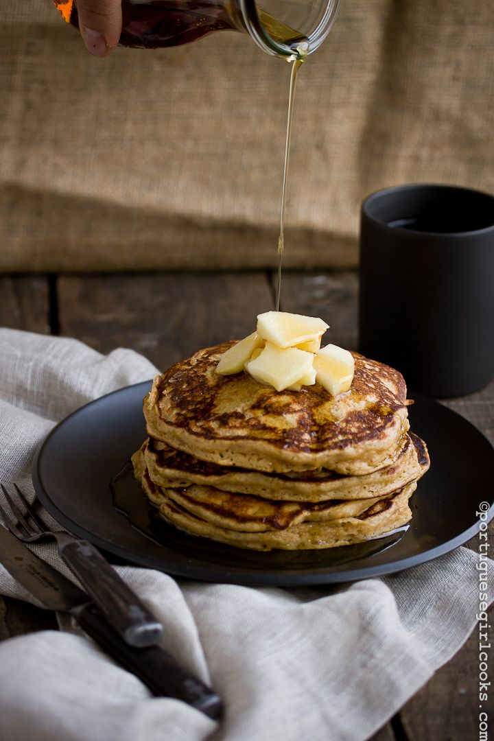 Apple Gingerbread Pancakes with Apple Cider-Maple Syrup ...