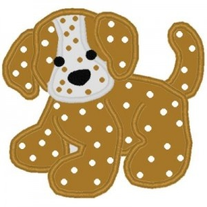 puppy applique