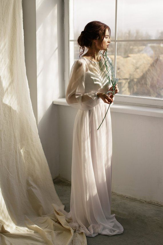 Pin On Wedding Gowns Modern Dresses For An Elopement