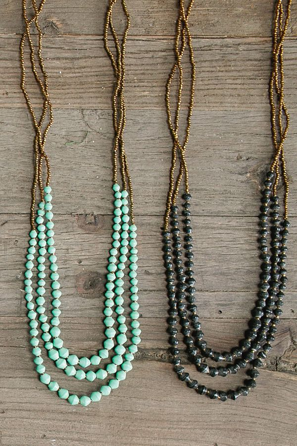 #Fashion that has an impact! @31bits #necklaces create sustainable economic opportunity for woman in #Uganda.